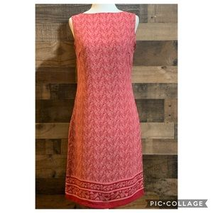 Old Navy Red & Pink Paisley Print Sleeveless Dress